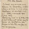 Emile Bernard letter to Albert Aurier