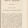 The African stranger: a sermon preached at London Wall in the evening of Sunday, the 17th of January, 1808, for the benefit of the African and Asiatic Society