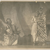 "Asadata Dafora as the Bridegroom, with two women dancers in a scene from ""Kykunkor"""