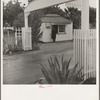 Shafter camp for migratory agricultural workers, Farm Security Administration. Entrance and office. California