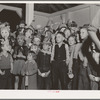 Halloween party at Shafter migrant camp, California.