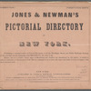 Jones & Newman's Pictorial Directory of New York: From near Warren Street to near Anthony Street, no. 4, [Front cover]