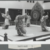 Japanese bugaku dancers performing at New York City Ballet (Takyu-raku)