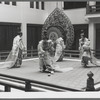 Japanese bugaku dancers performing at New York City Ballet (Tagyu-raku polo game)
