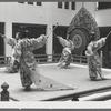 Japanese bugaku dancers performing at New York City Ballet (Takyu-raku)