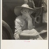 Douglas, Georgia. Wife of sharecropper in town to sell their crop at the tobacco auction