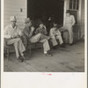 """South Carolina. Livery stable gang talking politics in the country of Senator """"Cotton Ed"""" Smith"""