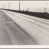 San Joaquin Valley. U.S. 99, the highway the migrant families ceaselessly travel. See general caption. California