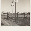 Near Fresno, California. Migrants' tents are a common sight along the right of way of the Southern Pacific