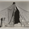 One of a row of tents, home of a pea picker. Near Calipatria, Imperial Valley, California.