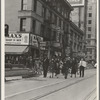 Salvation Army, San Francisco, California. Returning to headquarters. No recruits to audience from street.