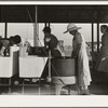 Laundry facilities in Farm Security Administration (FSA) migrant labor camp. Westley, California.
