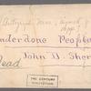 Sherwood, John D. - Underdone People