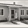 Tulare County, California. Farm Security Administration (FSA) camp for migratory agricultural workers at Farmersville. Resident nurse and clinic building of Agricultural Workers' Health and Medical Association.