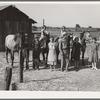 Washington, Yakima Valley, near Wapato. Rural Rehabilitation (Farm Security Administration). Chris Adolf, his wife, six of their eight children and his teams.