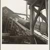 Log chute at Pelican Bay Lumber Company mill. Near Klamath Falls, Oregon.