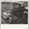 Living conditions for migrant potato pickers. Tulelake, Siskiyou County, California. Number 63-1 general caption.