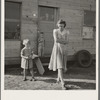 "Young mother, twenty five, says ""Next year we'll be painted and have a lawn and flowers."" Rural shacktown, near Klamath Falls, Oregon. General caption number 47"