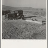 Outskirts of Merrill, Klamath County, Oregon. Potato workers camp, no tents, waiting for farm family labor camp (FSA - Farm Security Administration) to open