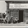 California State Employment Service office. Tulelake, Siskiyou County, California. This office is 500 yards from potato pickers camp. This office made 2,452 individual placements to growers in five weeks (season of 1938). General caption number 63-1