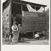 Grower provides fourteen such shacks in a row for his hop pickers. Josephine County, Oregon. Near Grants Pass, Josephine County, Oregon. General caption number 45-11.