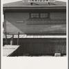 Detail of old railroad station. Small farming town, population 108. Irrigon, Oregon
