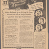 Victor Records newspaper advertisement