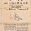 Ten Special Amberol Records