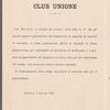 Circolo Musicale Di Novara, Club Unione, program