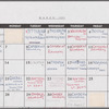 Calendar of La Scala Orchestra's tour