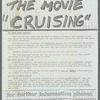 "STOP THE MOVIE ""CRUISING"""
