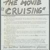 """STOP THE MOVIE """"CRUISING"""""""