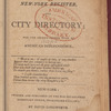 New York City directory, 1807/08