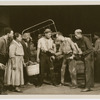 "Ray Yates, Georgette Harvey, Alonzo Fenderson, Leigh Whipper, Rex Ingram, Jack Carter and Carrington Lewis in a scene from the Theatre Union production of ""Stevedore,"" at the Civic Repertory Theatre, New York"