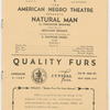 "Cast listing from Episode 1 from the theater program for the American Negro Theatre production of ""Natural Man"""