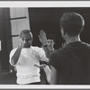 Jerome Robbins rehearses dancers for Moves, no. 320