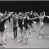 Jerome Robbins with students at the School of American Ballet