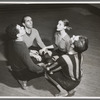 Jerome Robbins rehearses Francisco Moncion, Tanaquil Le Clercq, and Roy Tobias in his ballet The Age of Anxiety