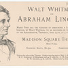 Walt Whitman on Abraham Lincoln