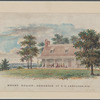 Watercolor of Mount Gulian, residence of G. C. Verplank