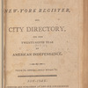 New York City directory, 1804/05