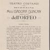 Miss Isadora Duncan eseguira le danze dell'Orfeo