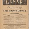 Idilli alla Danza eseguiti da Miss Isadora Duncan