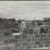 Cinder block construction, Jersey Homesteads, Hightstown, New Jersey