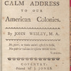 A calm address to our American colonies
