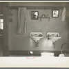 Washroom of Rustan brothers' farmhome near Dickens, Iowa.
