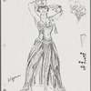 Costume sketches by Florence Klotz for the original Broadway production of Grind