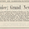 Ad: Potters Rejoice; Grand News for You! page 23 (detail)