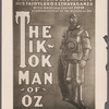 Photograph of poster publicizing the stage production The Tik-Tok Man of Oz