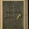 The Reform advocate, Vol. 32, no. 3